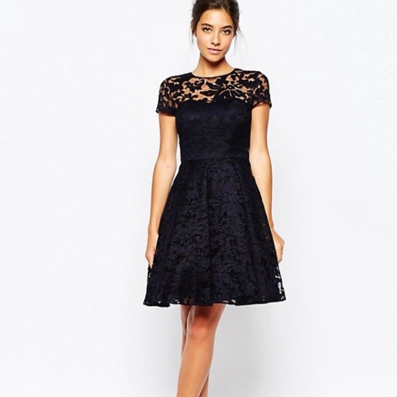 7f33acaf ONE HOUR SALE❤ ! NWOT Ted Baker Navy Lace dress. M_5c2b83368ad2f9c6591977fe